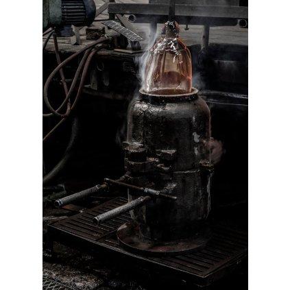 Flos Noctambule Floor 1 High Cylinders Small Base, stojací lampa ze skla se stmívačem, 2x9W + 1x18W LED 2700K, výška 58cm