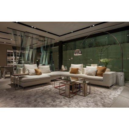 Flos Arco, designová stojací lampa s vypínačem, 1x70W E27, výška 232cm