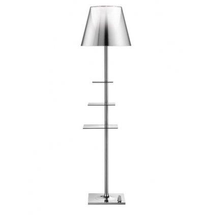 10986 5 flos bibliotheque nationale stojaci lampa s difusorem aluminizovanou stribrnou design philippe starck 1x150w e27 150cm