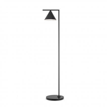 Flos Captain Flint, lampa se stmívačem v kombinace mramoru a antracitu, 20W LED 2700K, výška 153,7cm