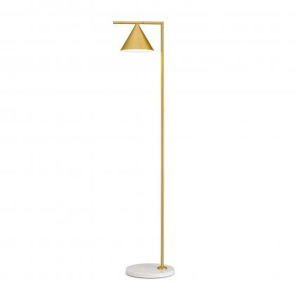 Flos Captain Flint, lampa se stmívačem v kombinace mramoru a mosazi, 20W LED 2700K, výška 153,7cm