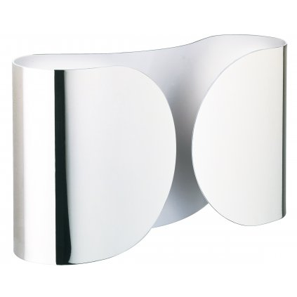 Flos Foglio, designové nástěnné svítidlo, 2x100W E27, chrom, délka 37cm