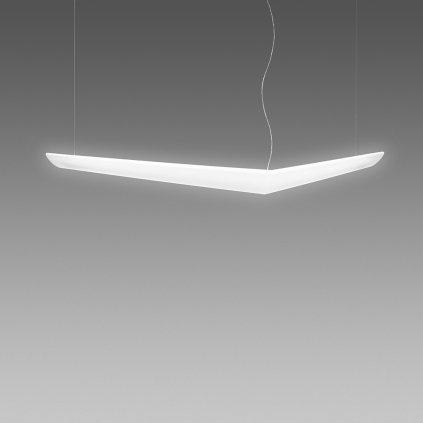 Artemide Mouette Asymmetrica, závěsné designové svítidlo, 80W LED 3000K, 195cm, délka závěsu 190cm