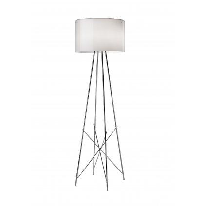 Flos Ray F1, stojací lampa s širmem z bílého skla a stmívačem, 1x105W E27, výška 128cm