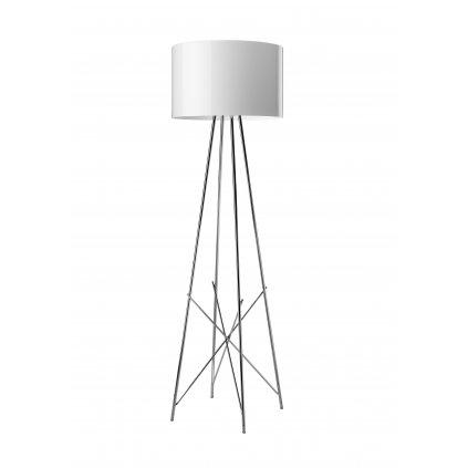Flos Ray F1, stojací lampa s bílým širmem a stmívačem, 1x105W E27, výška 128cm