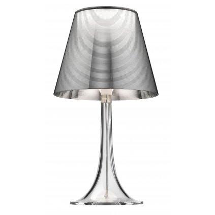 Flos Miss K, stolní lampička se stmívačem, 1x70W E27,  aluminizovaná stříbrná, výška 43cm