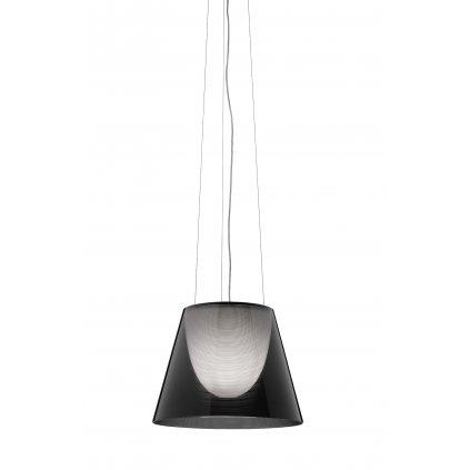 Flos KTribe S2, designové závěsné svítidlo, 1x150W E27, kouřová, prům. 39cm