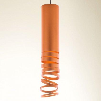Artemide Decomposé Light, oranžové závěsné svítidlo, 1x8W E27, výška 60cm