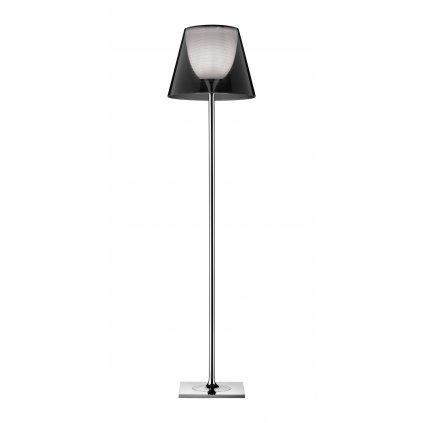 Flos KTribe F2, designová stojací lampa se stmívačem, 1x150W E27, kouřová, výška 162cm