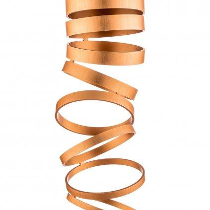 Artemide Decomposé Light, oranžové stropní svítidlo, 1x8W E27, výška 60cm