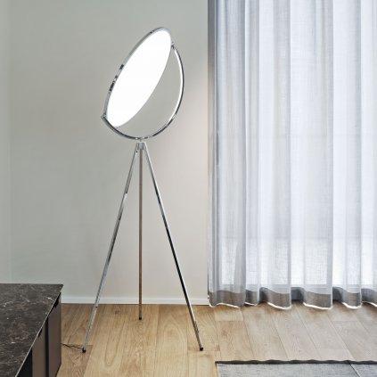 11562 7 flos superloon chromova stojaci designova lampa se stmivacem 40w led 197cm