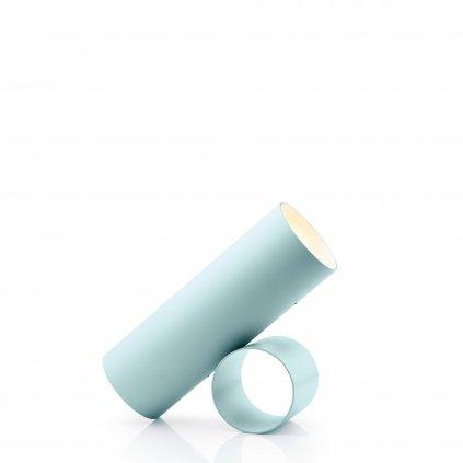 Flos Sawaru, světle modrá minimalistická lampa se stmívačem, 45W LED 1800/4000K stmívatelná, délka 43cm