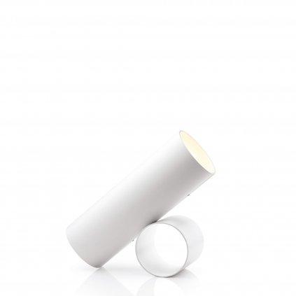 Flos Sawaru, bílá minimalistická lampa se stmívačem, 45W LED 1800/4000K stmívatelná, délka 43cm