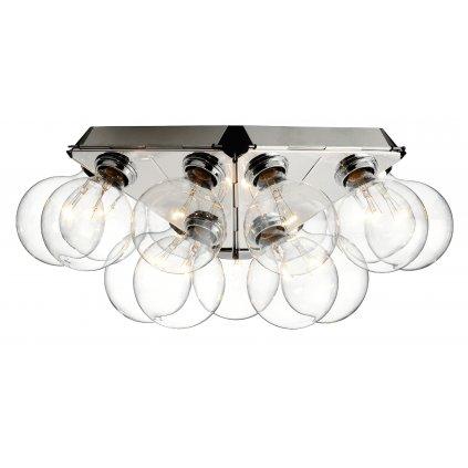 Flos Taraxacum 88 C/W, stropní/nástěnné svítidlo v kombinaci chromu a čirého skla, 3x5W LED 2500K, 61x61cm