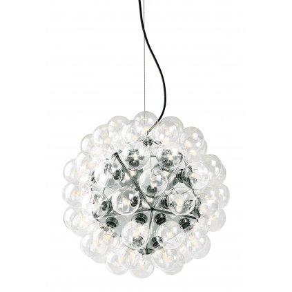 Flos Taraxacum 88 S1, závěsné svítidlo v kombinaci chromu a čirého skla, 60x5W LED 2500K, prům. 80cm