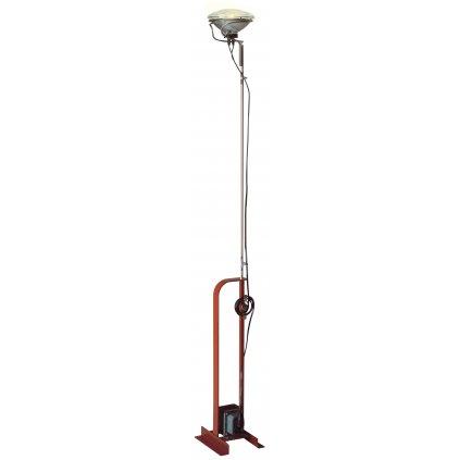 Flos Toio, červená industriální lampa pro nepřímé osvětlení, 1x300W PAR56 MFL, výška až 195cm