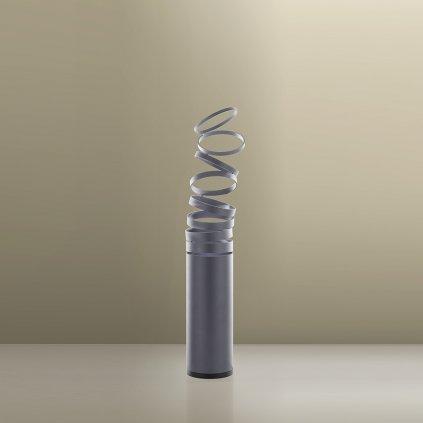 Artemide Decomposé Light, šedá stolní lampička s vypínačem, 1x8W E27, výška 61cm