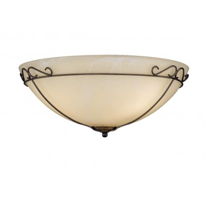 Fisher & Honsel Antik, stropní svítidlo, 3x40W E27, antická hnědá/šampaň sklo, prům.40cm