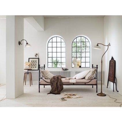 Il Fanale Anita, rustikální stolní lampička z antické mosazi a keramiky, 1x46W E14, výška 30cm