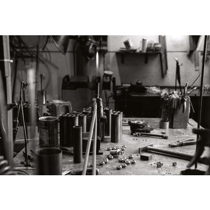 Il Fanale Fior di Pizzo, lampička v rustikálním stylu z antické mosazi a keramiky, 1x46W E14, výška 29,5cm