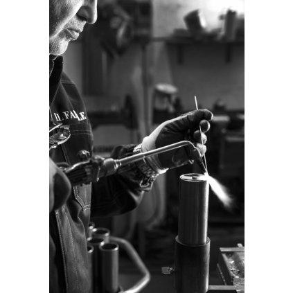 Il Fanale Reporter, stolní lampička s nastavitelným ramenem, 1x46W, mosaz, výška 40-56cm