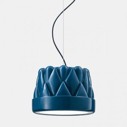 Il Fanale Babette sospensione media, závěsné svítidlo, 1x57W E27, leskle modrá, prům. 28cm