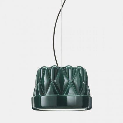 Il Fanale Babette sospensione media, závěsné svítidlo, 1x57W E27, leskle zelená, prům. 28cm