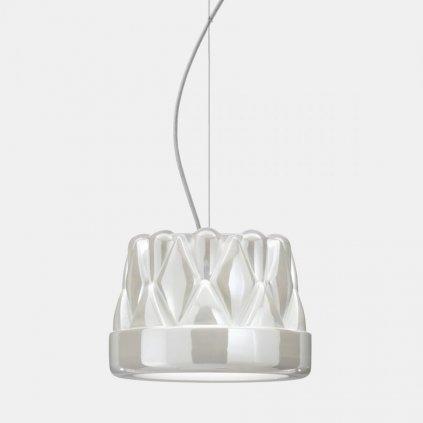 Il Fanale Babette sospensione media, závěsné svítidlo, 1x57W E27, leskle bílá, prům. 28cm