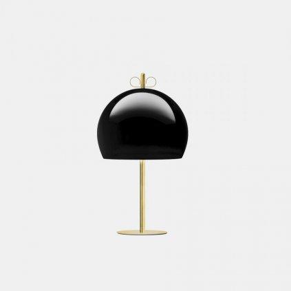 Il Fanale Bon Ton, stolní lampa z mosazi, černé stínítko, 1x30W E14, výška 60,3cm