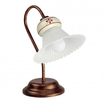 18297 3 linealight 2642 mami stolni lampa s keramickym stinitkem ve venkovskem stylu 1x28w patina rzi 30cm