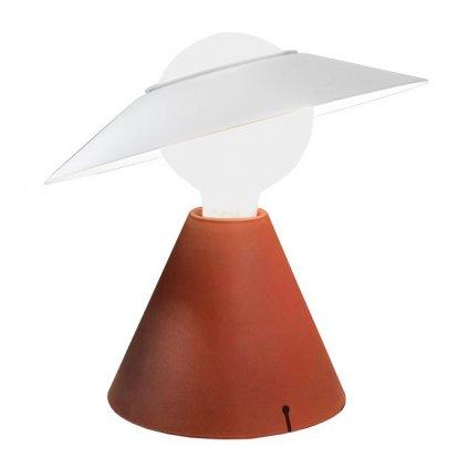 20478 7 linealight fante cervena stolni retro lampicka 1x11w led e27 vyska 28cm