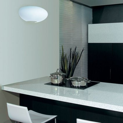 Lucis Asterion, nástěnné svítidlo z bílého trojvrstvého skla, 3×75W, šíř.55cm