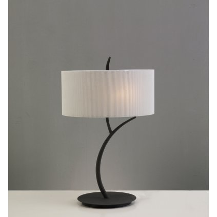 Mantra Eve 1157, stolní lampa španělského výrobce, 2x20W E27, hnědá/stínítko ze smetanového textilu, 46cm