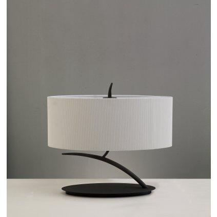 Mantra Eve 1158, stolní lampa španělského výrobce, 2x20W E27, hnědá/stínítko ze smetanového textilu, 36cm