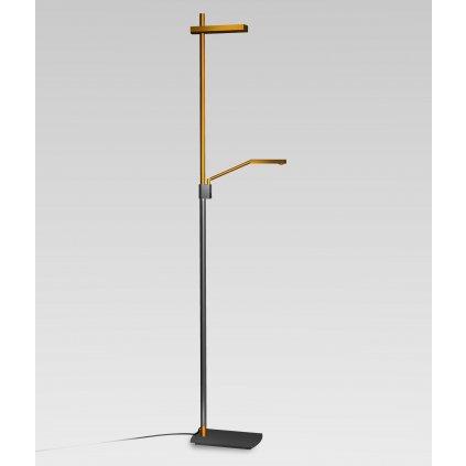 Mantra 4943 Phuket, stojací lampa pro přímé a nepřímé osvětlení, 7+21W LED, měď-antracit , výška 180cm