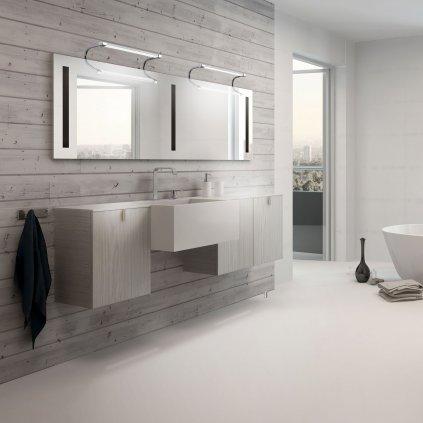 Mantra 5086 Sisley, svítidlo nad zrcadlo, 6W LED, 4000K, kombinace stříbrné a chromu, délka 36,2cm, IP44