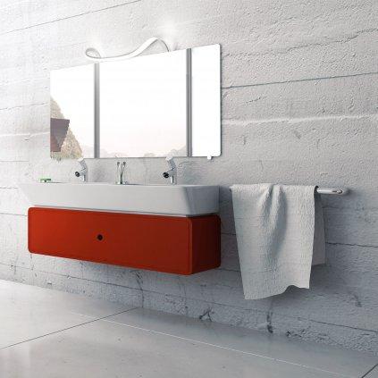 Mantra 5087 Sisley, svítidlo nad zrcadlo, 12W LED, 4000K, kombinace stříbrné a chromu, délka 40,7cm, IP44