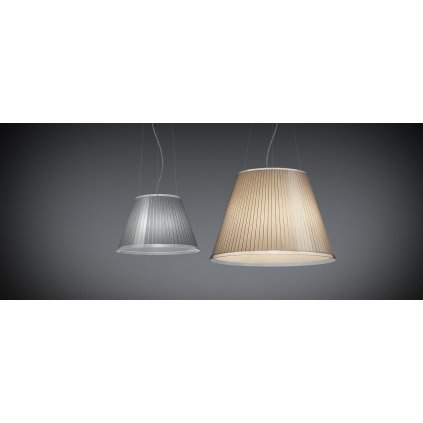 Artemide Choose Mega sospensione, závěsné designové svítidlo se stínítkem z pergamenu, 3x15W E27, prům. 55cm