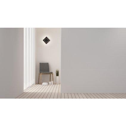 24105 3 mantra dakla cerne kubisticke svitidlo 12w led 3000k 18x18cm