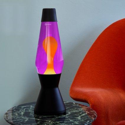 mathmos heritage astro black lava lamp violet orange