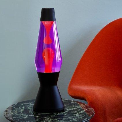 mathmos heritage astro black lava lamp violet red