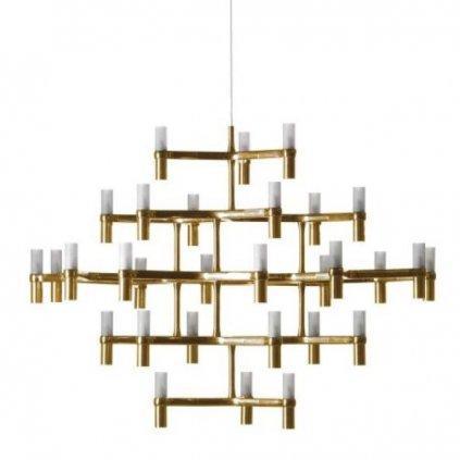 26097 4 nemo crown major matne zlaty zavesny lustr 30x25w g9 109x113cm vyska 87cm
