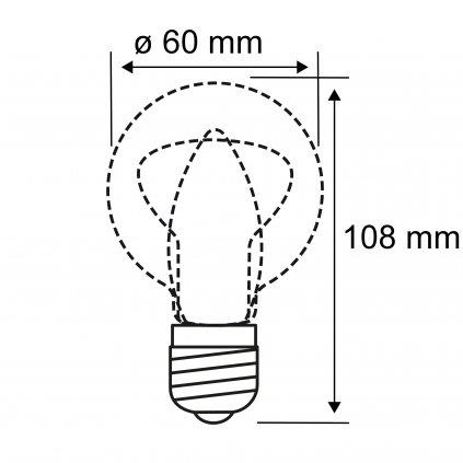 Paulmann LED žárovka matná, 6W LED 2700K, výška 10,8cm