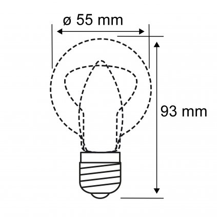 Paulmann LED žárovka matná, 4,5W LED 2700K, výška 9,3cm