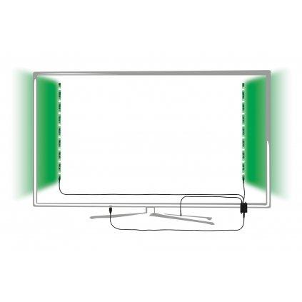 Paulmann LED pásek do USB za televizi, 2x1,25W LED RGB ovládané dálkovým ovladačem, délka 2x50cm