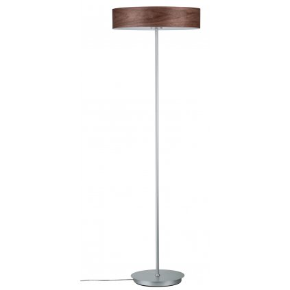 Paulmann Neordic Liska, stojací lampa z tmavého dřeva a matného chromu, 3x20W LED E27, výška 142cm