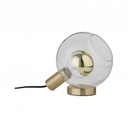 Paulmann Esben, stolní lampa z mosazi a skla, 1x20W E27, prům. 20cm