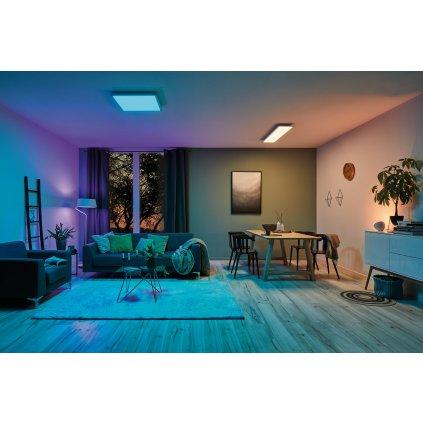 Paulmann Amaris, stropní LED panel 22W LED RGBW Zigbee, 59,5x29,5 cm