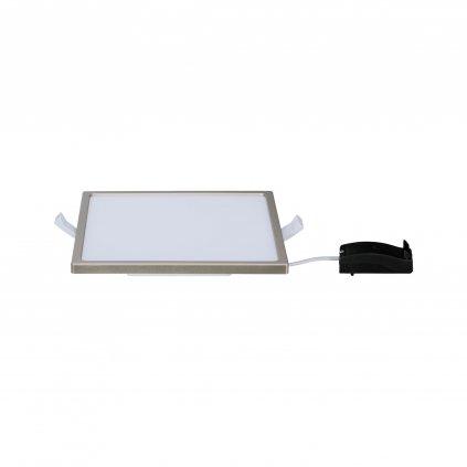 Paulmann Areo, niklové polozapuštěné svítidlo, 12W LED 3000K, 18x18cm, IP23