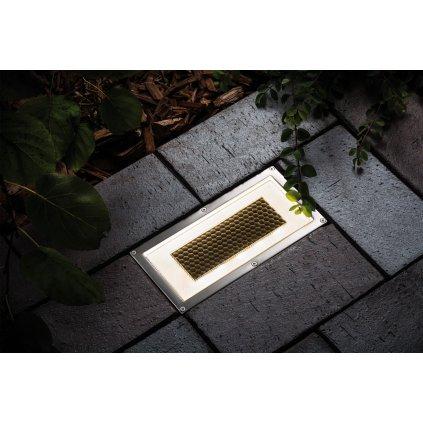 Paulmann Box IP67 Solar, solární zápustné svítidlo do země na baterie, 0,6W LED, 20x10cm, IP67
